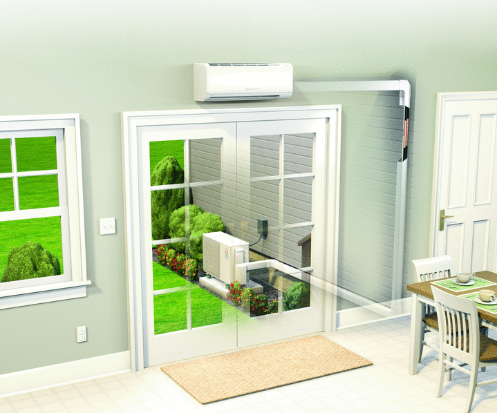 mitsubishi ductless split zoning air conditioning installation